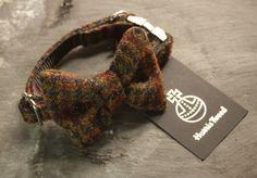 dog bow tie  harris tweed  #bowtie #dogbowtie #dog #dogsatweddings