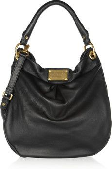 Marc by Marc Jacobs The Classic Q Hillier Hobo textured-leather shoulder bag   NET-A-PORTER