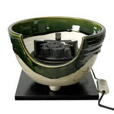 binkake / brazier with electric heater shaped to look like charcoal for Japanese tea ceremony