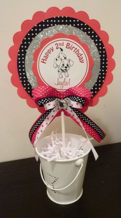 centerpieces for RaLeigh's birthday! Dog Themed Parties, 4th Birthday Parties, 5th Birthday, Birthday Ideas, Dalmatian Party, Puppy Party, Kids Party Themes, Party Ideas, Diy Ideas