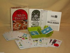 MILLE BORNES 1971 COMPLETE CAR CARD GAME FRENCH NO 13 A MADE USA VINTAGE BOX #ParkerBrothers