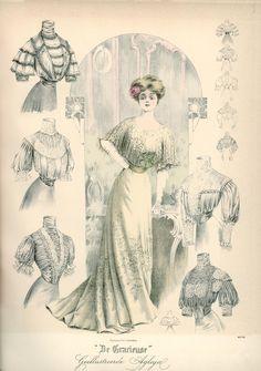 Art Nouveau frame. (vist site for bigger picture)  Gracieuse. Geïllustreerde Aglaja, 1908, aflevering 6, pagina 96/3