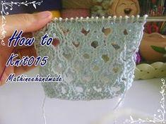 How to Knit015 Knitting pattern / ถักผังลายนิตติ้ง _ Mathineehandmade