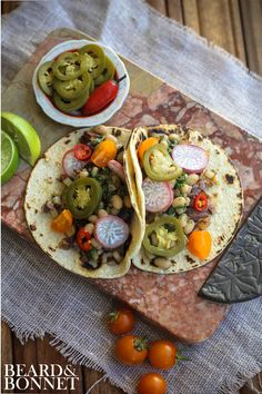 Beard and Bonnet: White Bean and Potato Tacos (Gluten Free and Vegan)