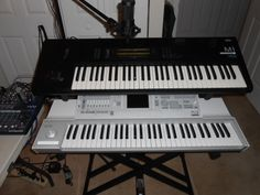 My current setup of Korg synthesizers. c. 2013-present.