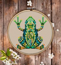 This is modern cross-stitch pattern of Mandala Frog for instant download. You will get 7-pages PDF file, which includes: - main picture for your reference; - colorful scheme for cross-stitch; - list of DMC thread colors (instruction and key section); - list of calculated thread