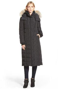Main Image - Mackage Long Down Coat with Genuine Coyote Fur & Shearling Trim
