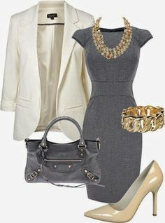 Gorgeous Outfit grey and cream