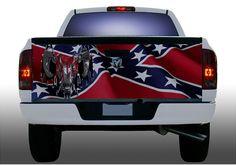Redneck Boys, Redneck Crazy, Tailgate Wraps, Truck Tailgate, Chevy Silverado Accessories, Truck Accessories, Camo Truck, Jeep Truck, Rebel Flags