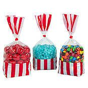 Red Striped Party Bag