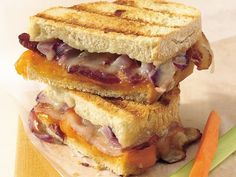 Grilled Double-Cheese & Bacon Sandwiches