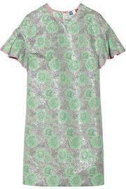 MSGMMetallic floral-jacquard mini dress