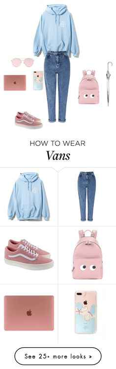 """""""Untitled #18548"""" by explorer-14576312872 on Polyvore featuring Miss Selfridge, Vans, Anya Hindmarch, Fulton and LMNT"""