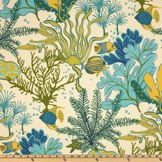This bright and cheerful floral sea life print would look great in any home decor. Colors include citrine, yellow, turquoise, hunter, teal and shades of blue on an ivory background.  * All items are hand made with high-end decorative fabric. * Fabric is professionally serged to prevent fraying. * Each pillow is approximate in size for standard pillow forms. I make the pillows slightly smaller for a snug fit. If you want the pillow to have a full look then order a form one size up.  * The…