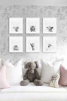 Nursery, Animals, Kid's room, ZOO, Kid's room decor, Nursery decor, Printable art, Minimalist, Etsy