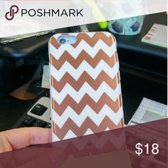 Kate spade for iphone 6 chevron Rose gold and pink kate spade Accessories Phone Cases