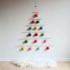 wanddeko ideen zu weihnachten weihnachtsbaum