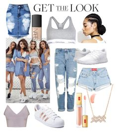 """Get the Look..Little Mix"" by aheavingham on Polyvore featuring Calvin Klein, Topshop, adidas and NARS Cosmetics"