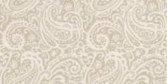 Kinward (PW78030/6) - Baker Lifestyle Wallpapers - An elegant all over paisley design wallcovering with a hand painted effect. Shown here in off white and stone. Other colourways are available. Please request a sample for a true colour match.