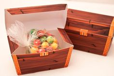 Treasure Chest Favor Box : DIY Printable by PiggyBankParties