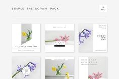 Simple Instagram Pack by Swiss_cube on @creativemarket Social media creative design posts for promotion marketing design templates. Use it for quotes, tips, photos, etiquette, ideas, posts or for presentation your business agency, products sales or designs. Ready to use on Instagram, Pinterest, Facebook, Twitter your Blog or Website.