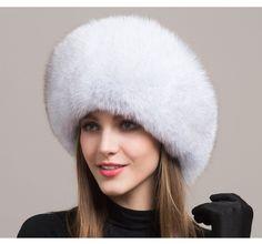 3a5e0d6183df3 Genuine fox fur Hat Fox Fur Women Cap Thicken Fur Cap Winter Warm Female Warm  Hat Fashion For Women Earflap Beanies Hat