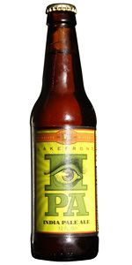 Lakefront Brewery, Inc. IPA.  Sharp and hoppy flavor that lingers after a swallow. 7