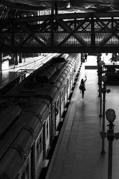 Departure at Luz Station