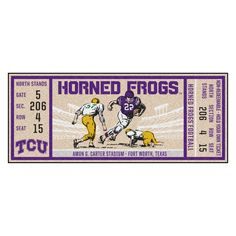 TCU Horned Frogs Official NCAA 12 inch x 6 inch Plastic License Plate Frame