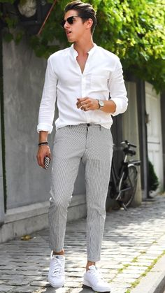 Men's white sneakers. Sneakers have already been an element of the world of fashion for more than perhaps you believe. Present day fashion sneakers have little likeness to their early forerunners however their popularity is still undiminished.