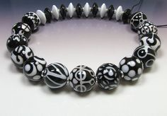 CLO Beads  Black & White rounds by CareyOHalloran on Etsy