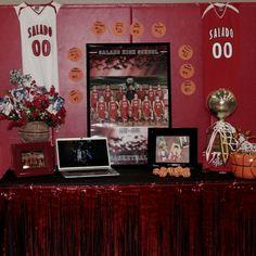 sports+banquet+decorations | Sports Banquet Ideas / Basketball Sports Banquet Centerpiece Use an ...