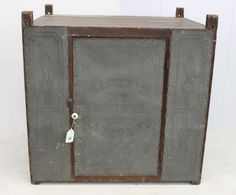 Lot: HANGING TIN PIE SAFE, Lot Number: 0394, Starting Bid: $500, Auctioneer: Hartzell's Auction Gallery, Inc., Auction: Halloween Antique Auction, Date: October 31st, 2014 EDT