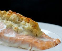 This recipe is a delicious pairing of salmon and crab, and will quickly become one of your favorite salmon recipes!