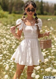 Trendy Summer Outfits, Cute Casual Outfits, Pretty Outfits, Pretty Dresses, Spring Outfits, Sunmer Dresses, Mode Geek, Aesthetic Clothes, Ideias Fashion