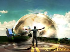 Powerful mental wave photo effect