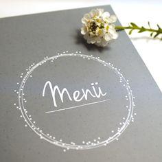 Menükarte für Hochzeiten und andere festliche Anlässe