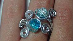 DIY anillo de alambre con perlas ♥ FACIL