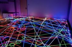 Neon colour light floor alarm :-)