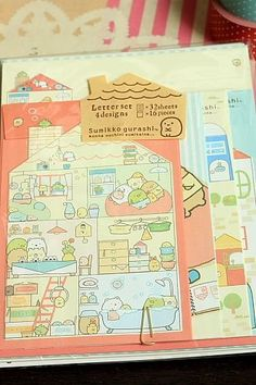 Japanese Kawaii Volume Letter Set - Sumikko gurashi
