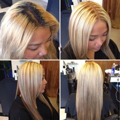 Color Correction Root Touch Up Highlights Layered Cut