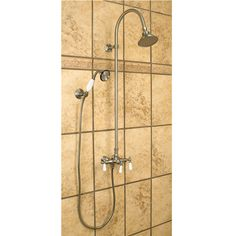 Exposed Pipe Shower With Hand Shower | Signature Hardware 400-500.00