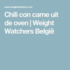 Chili con carne uit de oven | Weight Watchers België