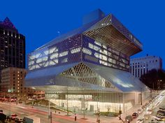 Seattle Central Library — Seattle, Washington, 2004, Rem Koolhaas and Joshua Prince-Ramus of OMA/LMN
