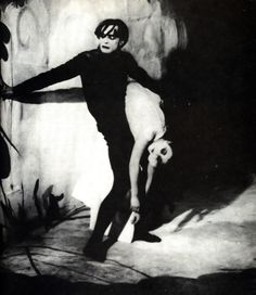 Conrad Veidt and Lil Dagover in The Cabinet of Dr. Caligari [1920]. [Source: Vintage Chic.]