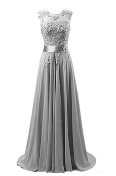 Amazon.com: KMFORMALS Women's Long Lace Prom Evening Dresses Size 2 Dark Gray: Clothing