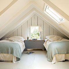 Extra attic space can become a cozy sleeping nook. #flatlay #flatlays #flatlayapp www.flat-lay.com