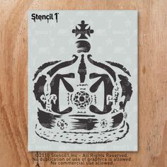 Get Graphic! Distressed Queen's Crown Stencil by Stencil1.  Stencil1.com $10.99  Use it to customize t-shirts, baby onesies, journals, walls, anything you can paint!
