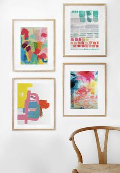 Decorating with triadic colors makes decorating a breeze! Create vibrant home decor with colorful combinations and textures from the Minted artist community.