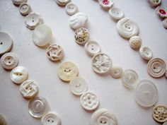 Vintage Button Garland White Ivory 9 Feet by NanNasThings on Etsy